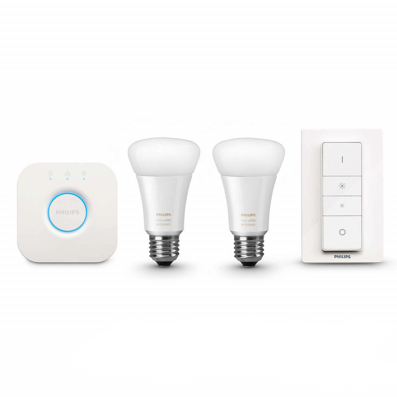 philips hue starter kit e27 white ampoules domotique homekitetmoi. Black Bedroom Furniture Sets. Home Design Ideas